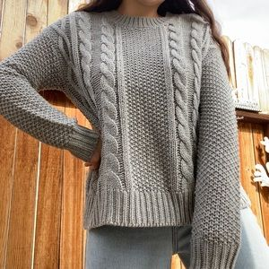 Gray knit sweater from Forever 21